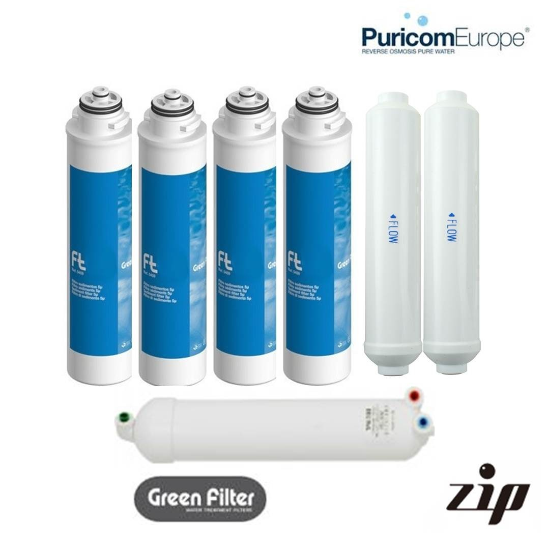 Puricom ZIP 24 Month Filter Pack