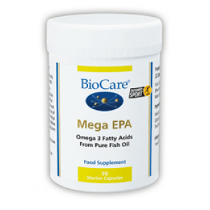 BioCare Mega EPA 1000 (Fish Oil Concentrate) 90 Capsules