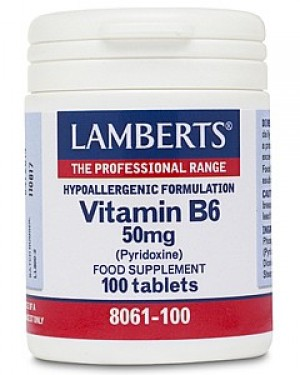Lamberts Vitamin B6 (Pyridoxine) 50mg 100 tablets