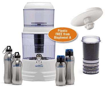how to clean santevia water system
