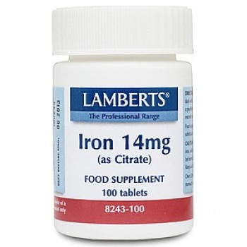 Lamberts Iron Citrate 14mg 100 tablets