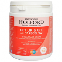 Patrick Holford Get up & Go! with Carboslow Breakfast Shake 300g Powder