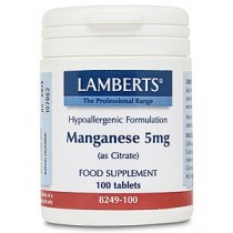 Lamberts Manganese Amino Acid Chelate 5mg 100 tablets