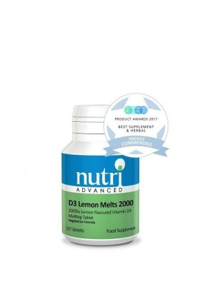 Nutri Advanced Vitamin D3 Lemon Melts 2000 120 tablets