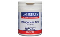 Lamberts Manganese Amino Acid Chelate 4mg 100 tablets