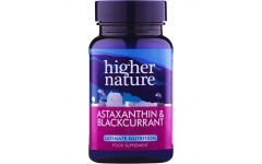 Higher Nature Astaxanthin and Blackcurrant 90 capsules