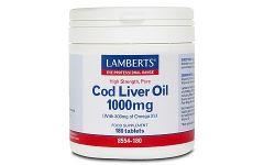 Lamberts Cod Liver Oil 1000mg 180 capsules