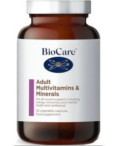 BioCare Adult Multivitamins and Minerals 30 capsules