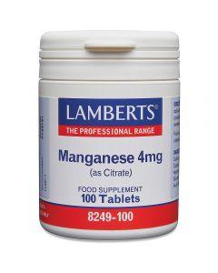 Lamberts Manganese Amino Acid Chelate 4mg 100 tablets