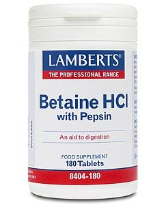 Lamberts Betaine HCl 324mg /Pepsin 5mg