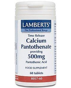 Lamberts Calcium Pantothenate (B5) 500mg 60 tablets